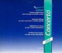 Concerto Plus Multipurpose Solution für alle weichen Kontaktlinsen. Zum Reinigen, Abspülen, Desinfizieren und Aufbewahren.